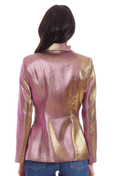 Purple Haze Metallic Suit by Amanda Uprichard - RENTAL