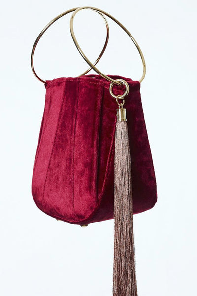 Alexis Velvet Bucket Bag by Farrah and Sloane - RENTAL