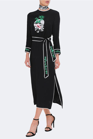 Alice Embroidered Midi Dress by Rixo London - RENTAL