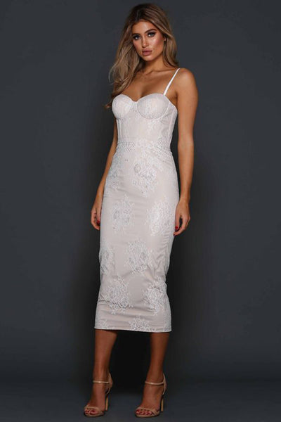 Alannah Dress in Pearl by Elle Zeitoune - RENTAL