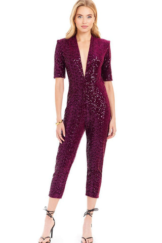 Amanda Uprichard Sequin Catsuit