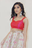Ananya Hot Pink Top by Dee Kapadiya - RENTAL