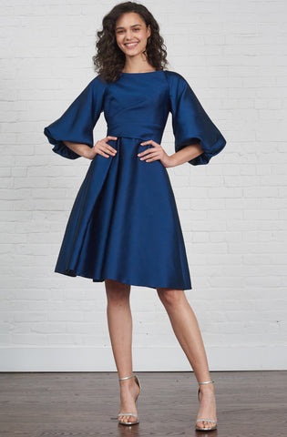 Navy blue designer dress rental Canada