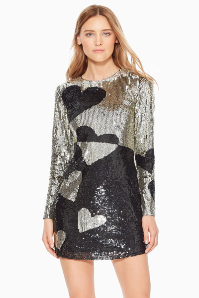 Axel Heart Sequin Mini Dress by Parker