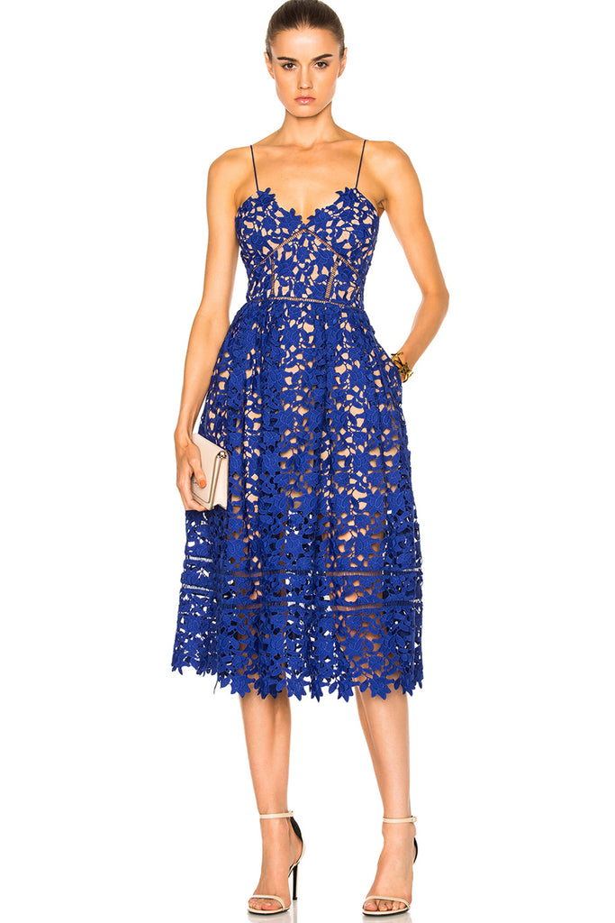 a5da343d0905 Azaelea Dress in Cobalt Blue by Self Portrait - RENTAL | The Fitzroy