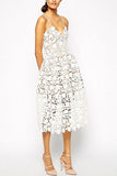 Azaelea Dress in White by Self Portrait - RENTAL