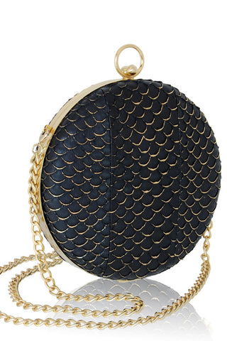 Canteen Mini Box Clutch Black Gold by Inge Christopher - RENTAL