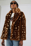 Bambi Faux Fur Coat by JAKKE - RENTAL