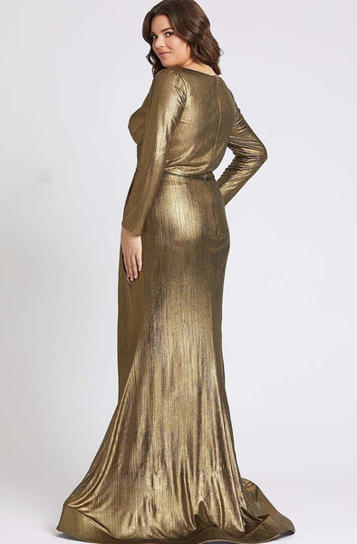 Bardot Bronze Gown by Mac Duggal - RENTAL