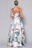 Floral print ballgown rental by Bariano at The Fitzroy