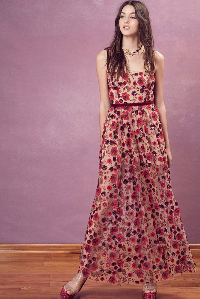 69575ce4328d Beatrice Strappy Maxi in Red by For Love and Lemons - RENTAL | The ...