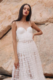 Belle Bustier Tulle Midi Dress by Sau Lee - RENTAL