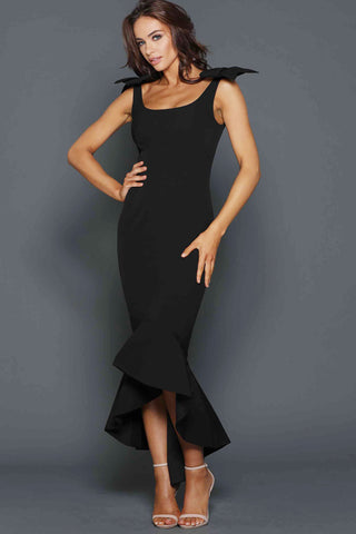 Josie gown in black by Elle Zeitoune