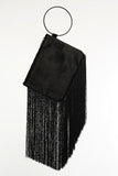 Freida Fringe Pony Hair Clutch by Farrah and Sloane - RENTAL
