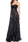 Mariana Sequin Patchwork Gown by Dress The Population - RENTAL