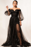 Gemy Maalouf black sequin gown