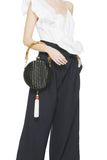 Lizzie Wicker Top Handle Bag by Serpui - RENTAL