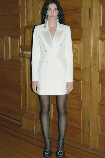 White Blazer Dress by Ronny Kobo for Rent from The Fitzroy