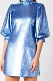 Azure Sequin Mini Dress by GANNI - RENTAL