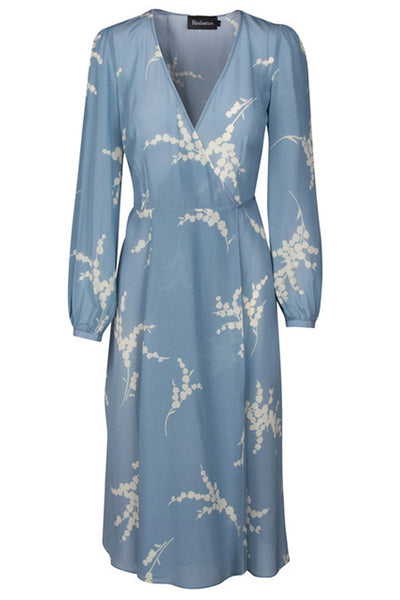 Violette Wrap Dress in Blue by Realisation Par - RENTAL