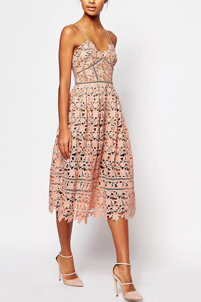 Azaelea Dress in Blush by Self Portrait - RENTAL