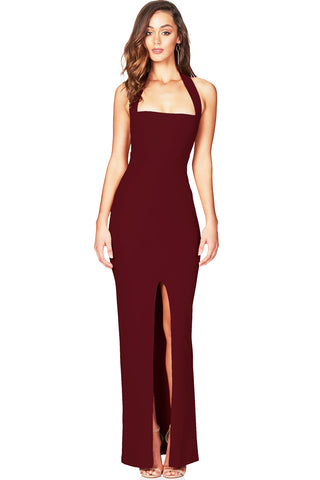 Boulevard Gown in Wine by Nookie