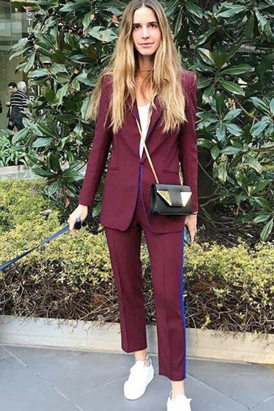 Burgundy Smoking Suit Hebe Studio