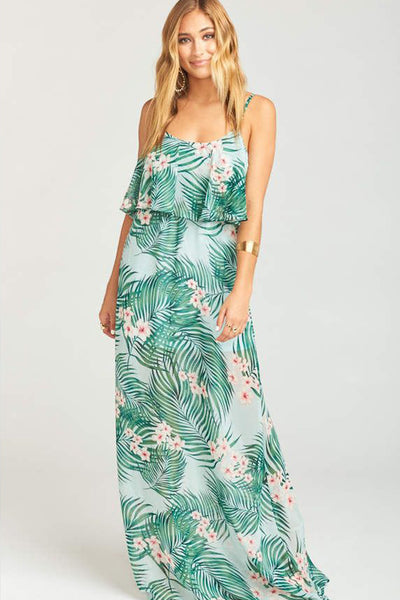 Caitlin Cold Shoulder Ruffle Dress in Hanalei Dream by Show Me Your Mumu - FINAL SALE