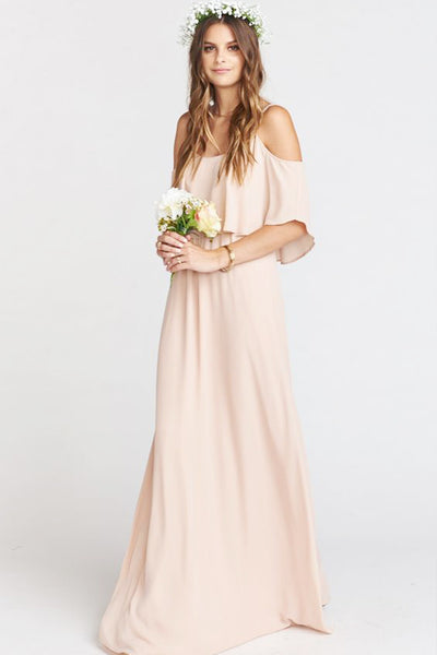Shoe Me Your Mumu Bridesmaids Dress Dusty Blush Crisp