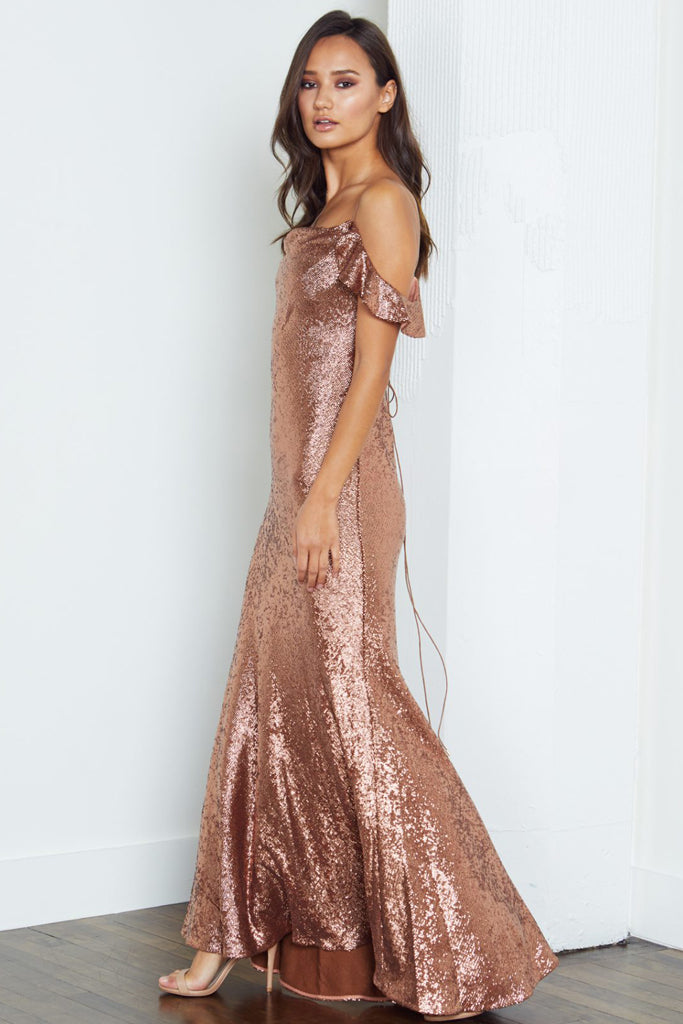 Cecilia Copper Sequin Gown by Rachel Zoe - RENTAL | The Fitzroy