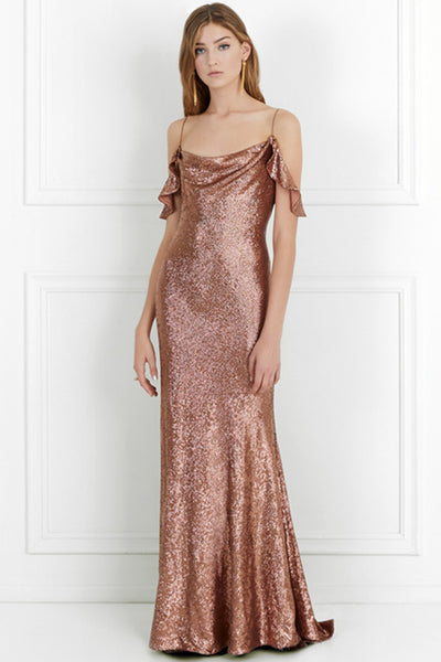 Cecilia Copper Sequin Gown by Rachel Zoe - RENTAL