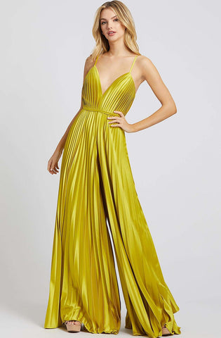 Yellow wide leg pleated jumpsuit - RENTAL - The Fitzroy