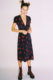 Teale Wrap Dress in Cherry Print by Realisation Par - RENTAL