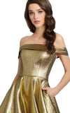 Cinderella Golden Ballgown by Mac Duggal - RENTAL