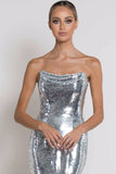 Claudia Cowl Neck Sequin Midi Dress by Bariano - RENTAL