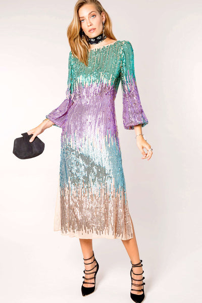 Coco Sequin Dress by Rixo London