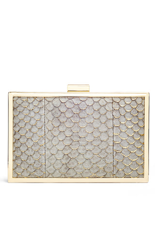 Corsica Mini Box Clutch in Grey by Inge Christopher - RENTAL