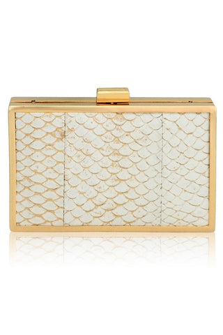 Corsica Mini Box Clutch in Ivory by Inge Christopher - RENTAL