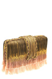 simitri peach ombre clutch
