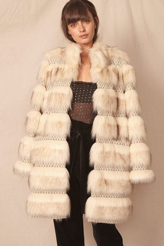 Echo Faux Fur Coat by Allen Schwartz