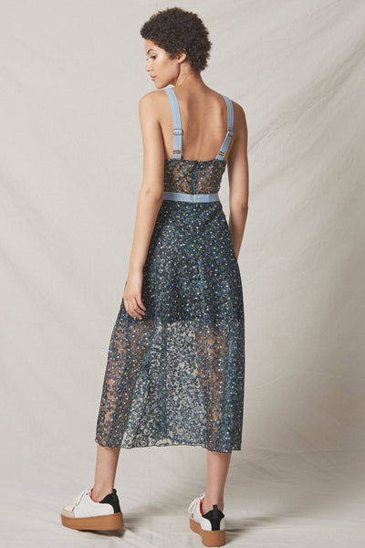 Eden Bustier Dress in Blue by Allen Schwartz - RENTAL
