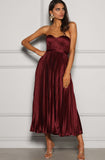 Wine Milan Dress Elle Zeitoune