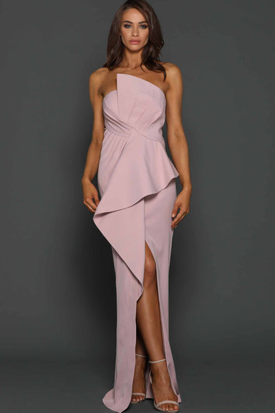 Esmerelda Gown in Blush by Elle Zeitoune