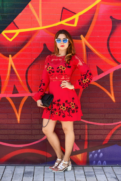 Isabella Long Sleeve Dress by For Love and Lemons - RENTAL