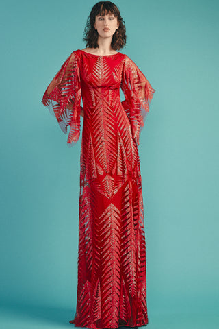 Florence Gown in Deep Coral by Beside Couture - RENTAL