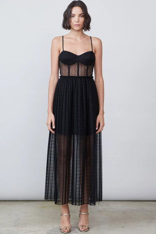 Freya black bustier dress by Allen Schwartz