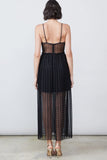 Freya Bustier Pleated Dress by Allen Schwartz - RENTAL