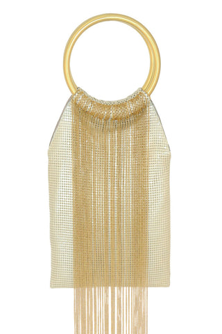 Gold Rush Bag in Pearl by Whiting and Davis - RENTAL