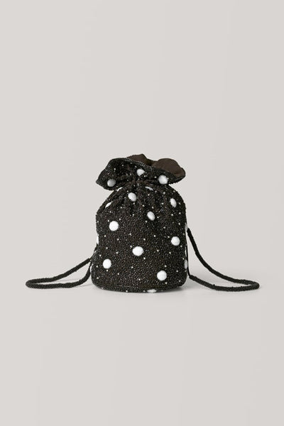 Wintour beaded drawstring bag by GANNI - RENTAL