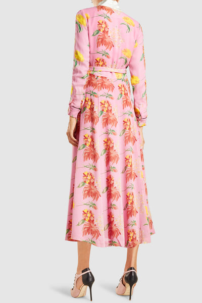 Marceau Floral Print Georgette Wrap Dress by GANNI - RENTAL